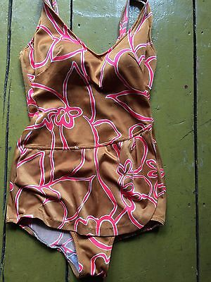 Adorable True Vintage 1960s Babydoll One Piece Bathing Suit Swimsuit Mod Psych