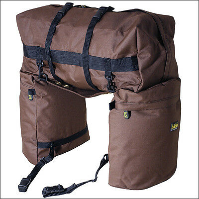 Outfitters Supply Horse Rider Trailmax Original Saddle Bags W/ Cantlebag Brown