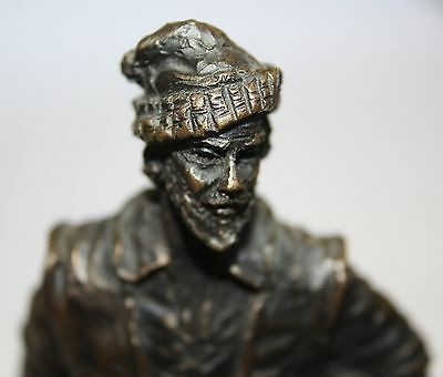 John Letts Bronze/Resin Sculpture of a shantyman with a rum barrel