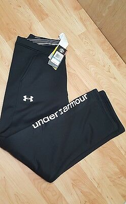 NEW Girl's Under Armour Cold Gear Black Athletic Pants Youth XL sweatpants