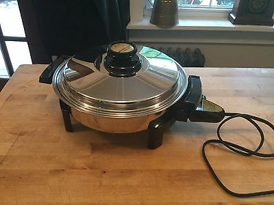 "Kitchen Craft Oil Filled  11"" Electric Fry Pan like Saladmaster"