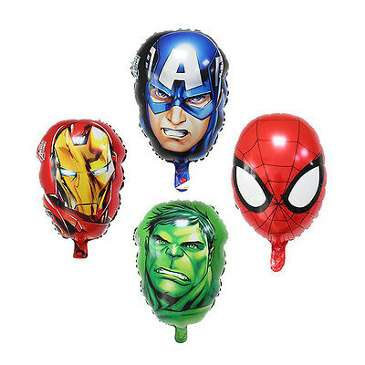 "Marvel Avengers 17"" Foil Face Balloons Hulk Iron Man Captain America Spiderman"