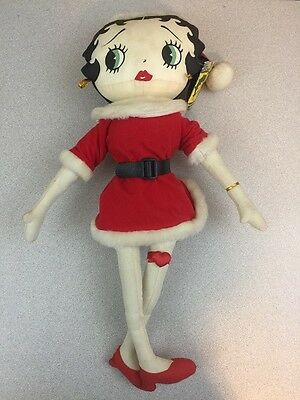 "1999 Christmas Collection 20"" Classic Santa Betty Boop Doll by Kellytoy"