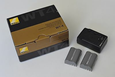 Nikon WT-4 Wireless Transmitter w/ MH-18a Quick Charger & 2x EN-EL3e Battery