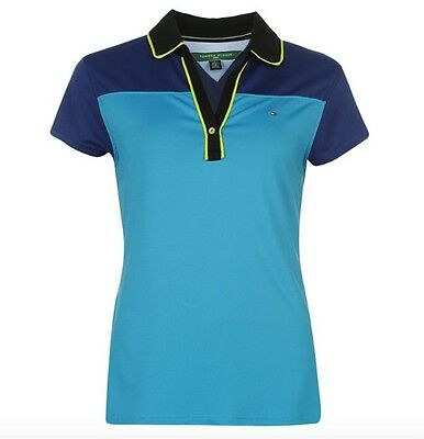 Tommy Hilfiger Golf Ladies Polo Nula Blue Light Blue all sizes new with label