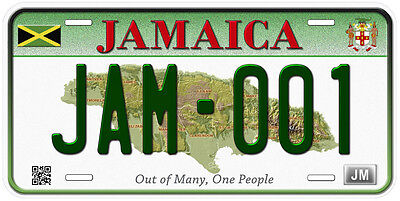 Jamaica Aluminum Any Text Personalized Novelty Car License Plate