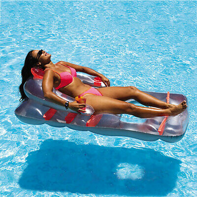 Swimline Inflatable Folding Lounge Chair Float For Swimming Pool Lake Pond 9041