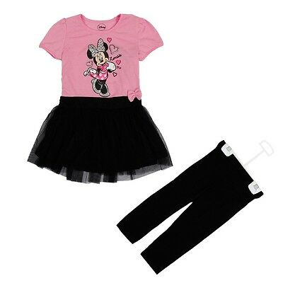 Baby Girls Outfits Dresses Disney Minnie Mouse Summer Birthday Party Kids Dress