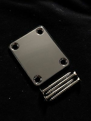 Brand New SECO Chrome Guitar Neck Plate fits Fender,Squier,Strat,Stratocaster