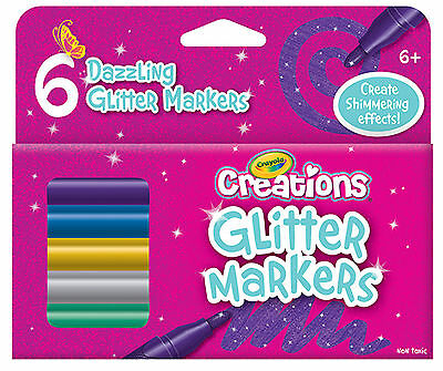 Crayola Creations Glitter Markers-Pack of 6