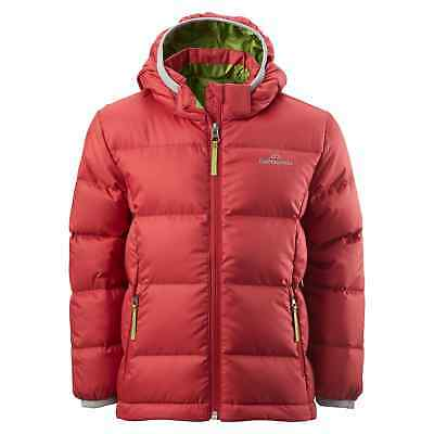 Kathmandu Elcho Kids Boys Girls Warm Winter Outdoor Duck Down Puffer Jacket Red