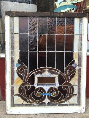 Antique Reclaimed Stained Glass Church Window