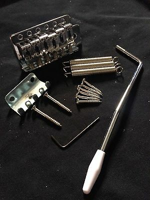 Brand New  SECO Chrome Guitar Tremolo+Arm fits Fender,Squier,Strat,Stratocaster