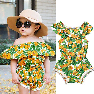Sweet Baby Girls Kids sleeveless Romper Jumpsuit Toddler Summer Clothes Outfits/