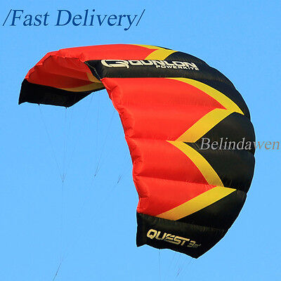 HOT 2 Sqm Red Dual Line Power Parachute Kite for Kids Adults Trainer Traction