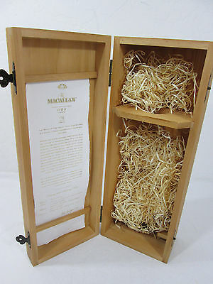 The Macallan Scotch Whisky 21 Years Old Wooden Box Only Collectible Gift