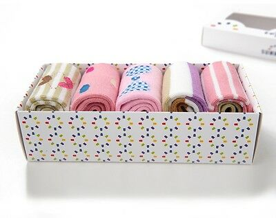 5 pairs in a gift box! Baby girl socks. Age 0-1. Pink