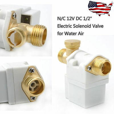 New Electric Solenoid Valve For Water Air N/C Normally Closed DC 12V 2017
