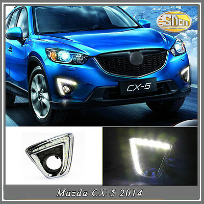 LED daytime running lights for Mazda CX-5 CX5 2012-2016 fog lamp cover drl