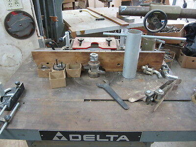 Delta RS15 Shaper with Powermatic PF-34 Power Feeder