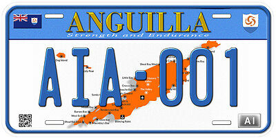 Anguilla Aluminum Any Text Personalized Novelty Car License Plate