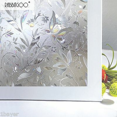 Rabbitgoo Superior No-Glue 3D Static Illuminative Window Glass Treatment Film