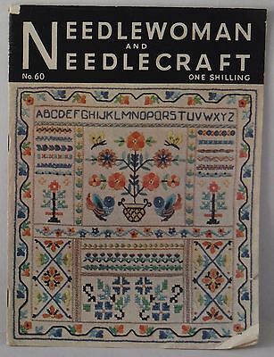 Needlewoman and Needlecraft no 60 1954 embroidery crochet vintage book