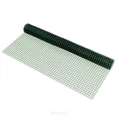 Wire Mesh Square Green 1mx5m Welded Mesh Aviary Fencing Chicken Wire Fence