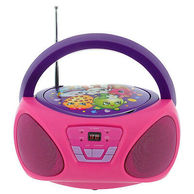 Shopkins CD Boom Box, Kids Portable Music, AUX & FM/AM Radio Player