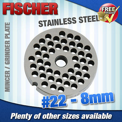 """new"" Mincer - Grinder Cutting Plate 8Mm For #22 Mincer - Other Sizes Available"