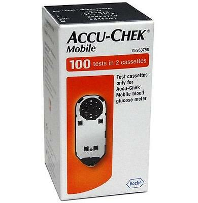 Accu Chek Mobile Test Cassettes (100 Tests in 2 Cassettes)