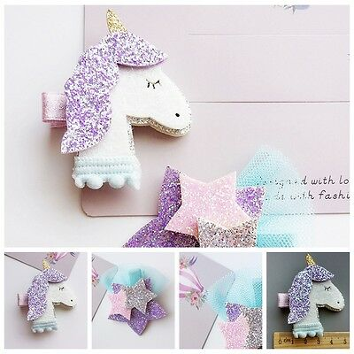 Unicorn Star Girls Hair Clips Hairpins Hair Accessories For Kids Baby Girls