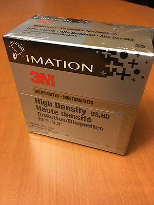 """IMATION - 3M - disk/disquette 3""""1/2 - Unformatted - x10 - NEW"""