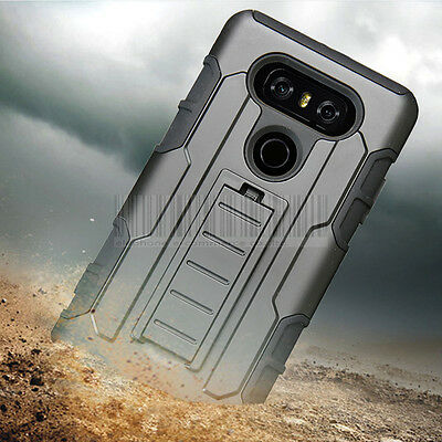 Hybrid Impact Armor Protective Stand Skin Case Shockproof Cover For LG G6 / G6+