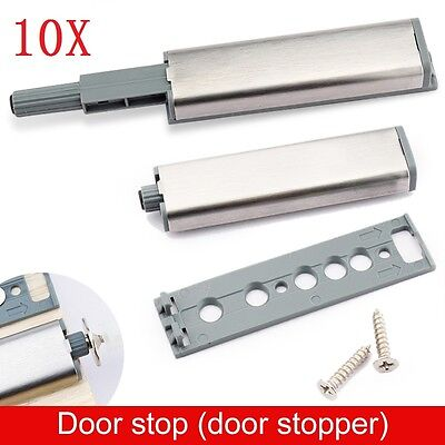 10PCS Cabinet Latch Door Drawer Push To Open System Damper Buffer Catch Kits