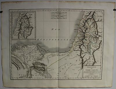 Israel Holy Land 1798 Chanlaire & Mentelle Antique Original Copper Engraved Map