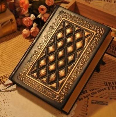 Vintage Journal Diary Notebook Leather Blank Hard Cover Sketchbook Paper Gift ^