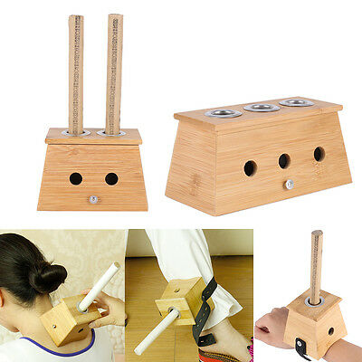 Moxa Roll Burner Box Avec Support Unique Bamboo Moxibustion Boîte Outil 3 Types