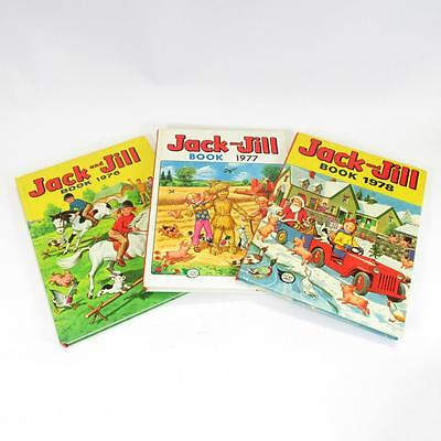 Jack And Jill Books x3 - 1976/1977/1978 - Vintage Children's Annuals