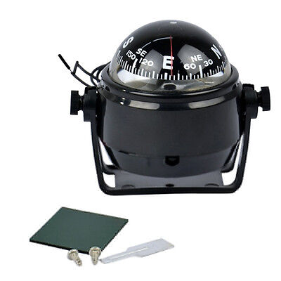 Hot Mini Mount Compass LED Light Sea Marine Electronic Digital Car Boat Truck