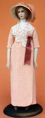"1912 Wrap around Dress of Silk Sewing Pattern for a 17"" doll #99"