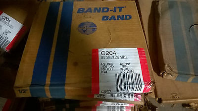 "Band It C204 201 Stainless Steel 1/2"" X 100' Strapping"