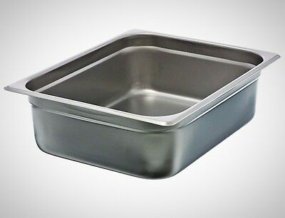 "Update International NJP-504 4"" Half Size Anti Jam Steam Table Pan Kitchen Food"