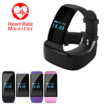 Bluetooth Smart Heart Rate Watch Bracelet Step Calorie Counter Activity Tracker