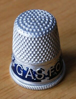Gas For Economy Vintage Aluminium Advertising Thimble