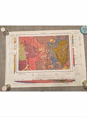 MONMOUTH British Geological Survey Map 1:50000 Sheet 233 solid and drift