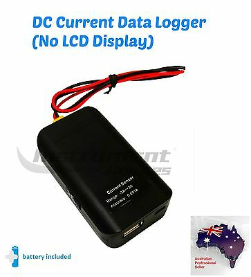 DC Current Data Logger Amplitude Amp Datalogger, -3A to +3A range (No Display)