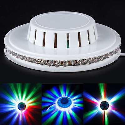 LED RGB Lamp Effect Auto Sunflower Rotating Party Stage Club Disco Light Decor