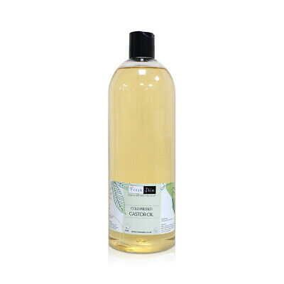 1 Litre Castor Oil 100% Pure Cold Pressed (1000ml) - BP Grade!