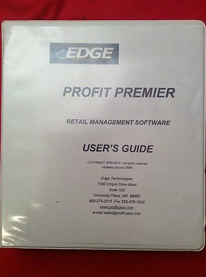 Edge Profit Premier 2009 Users Guide For Retail Management Software point Of Sal